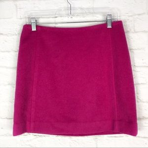 The Limited Wool Hot Pink Lined Career Mini Skirt
